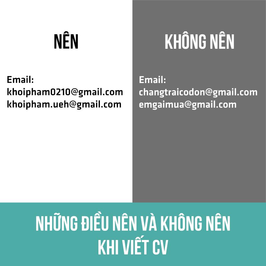 1. Nên đặt tên email chuyên nghiệp