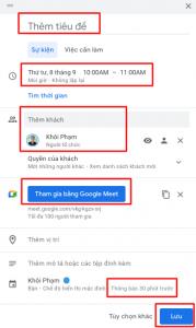 Cách Dùng Google Calendar Để Quản Lý Công Việc Hàng Ngày